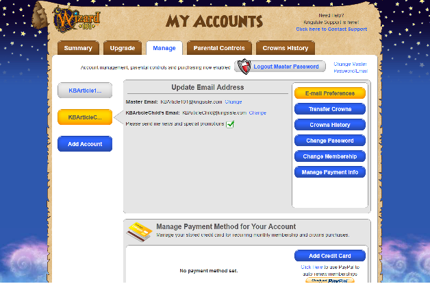 how to delete wizard101 account