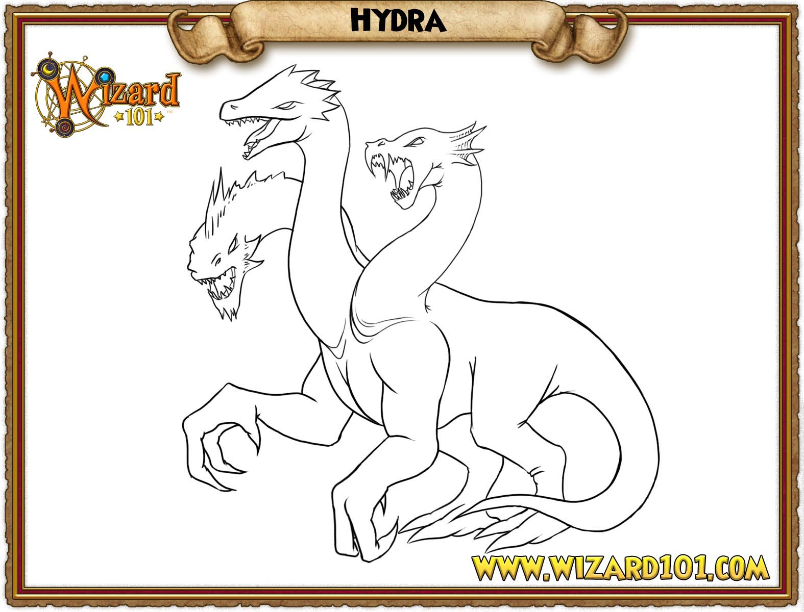 how to draw a hydra dragon