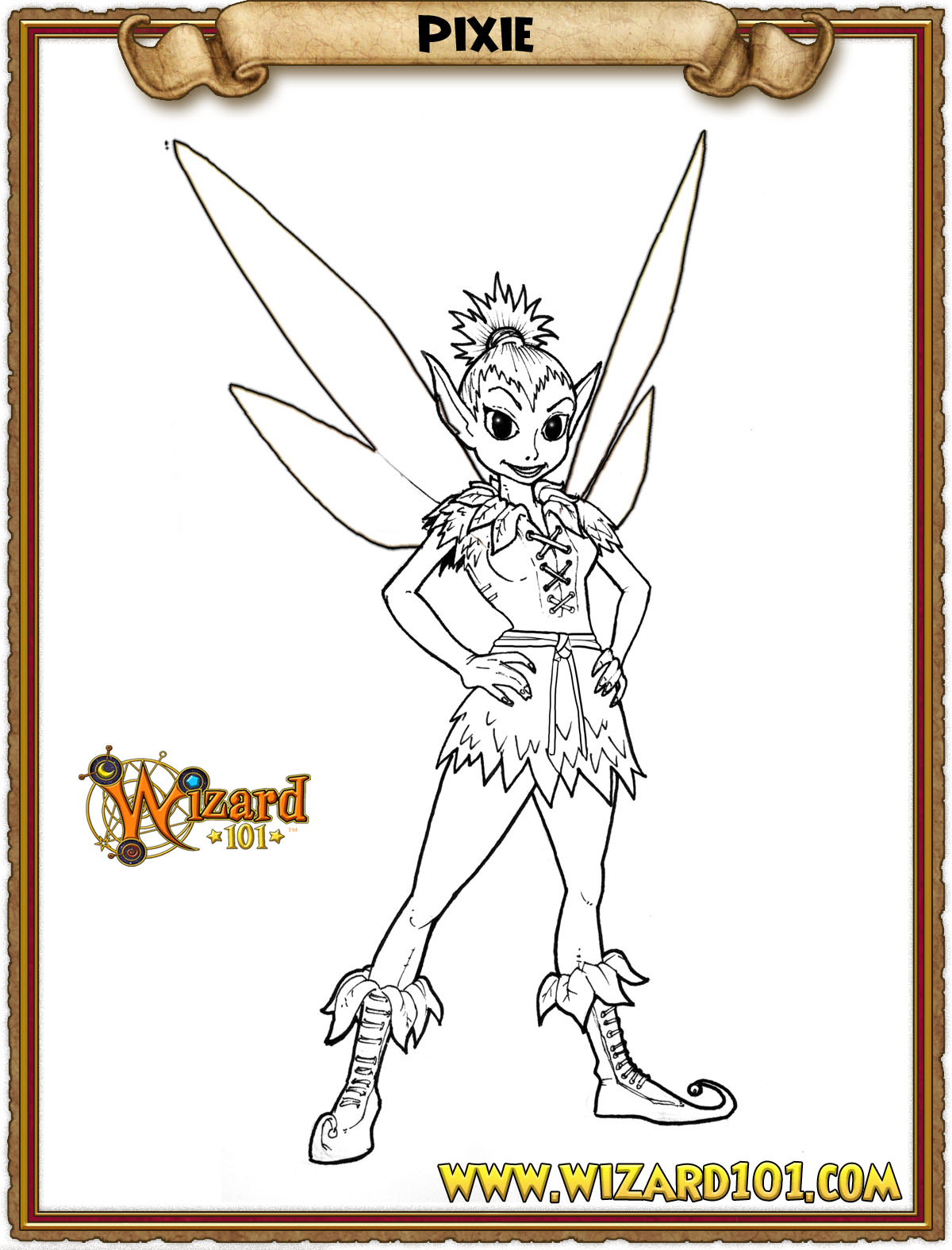 wizard101 printable coloring pages - photo#1