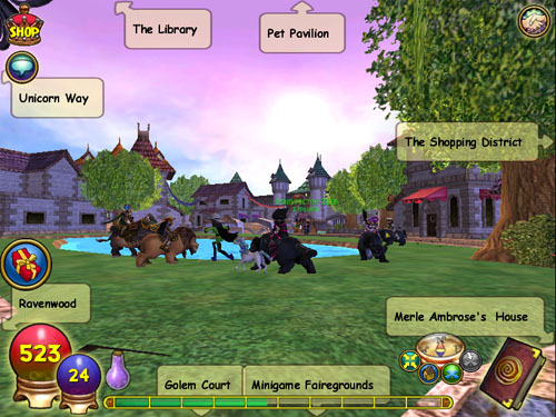 Do you use the navigation bubbles? | Wizard101 Free Online Games